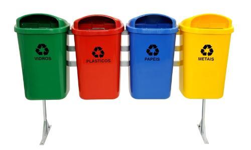Lixeira coleta seletiva reciclagem