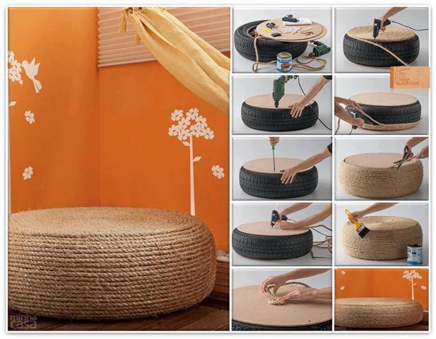 Aparador Buffet Sala De Jantar ~ Reciclagem de pneus para artesanato