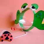 ideias de brinquedos feitos com garrafa pet