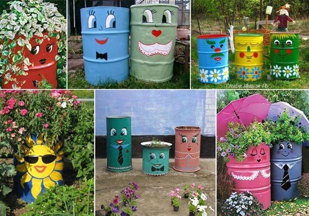 jardins ideias criativas : jardins ideias criativas: de artesanato com material reciclado Dicas de reciclagem para jardins