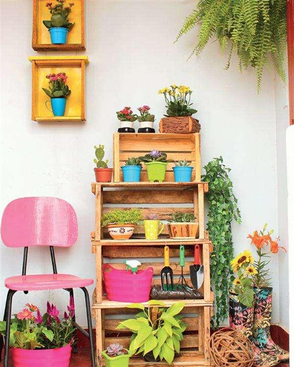 decora o de varandas com reciclagem