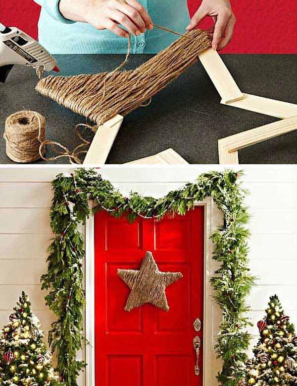 estrela de natal decorada