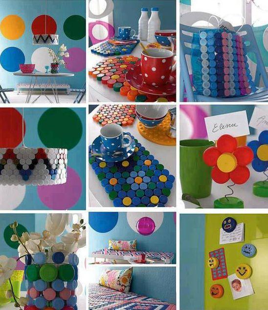 ... de artesanato com material reciclado Ideias criativas para fazer com