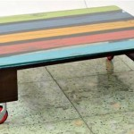 mesa de centro reciclado com caixote