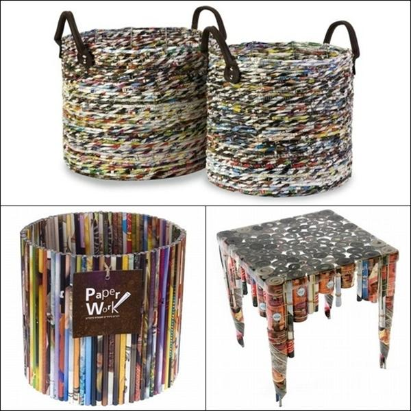 Reciclagem no meio ambiente o seu portal de artesanato for Home decorating materials