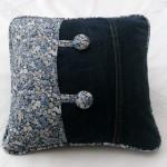 almofada de calca jeans