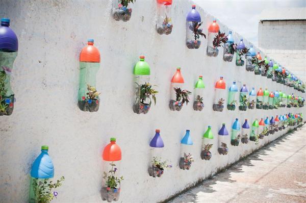 Com Material Reciclado Jardim Vertical Com Material Reciclado~ Decorar Jardim Material Reciclado
