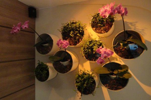 jardim vertical tubo pvc: de artesanato com material reciclado Ideias para Reciclar Tubos de PVC