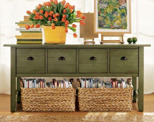 Várias são as ideias para reutilizar cestas de vime, escolha a sua preferida (Foto: lushome.com)