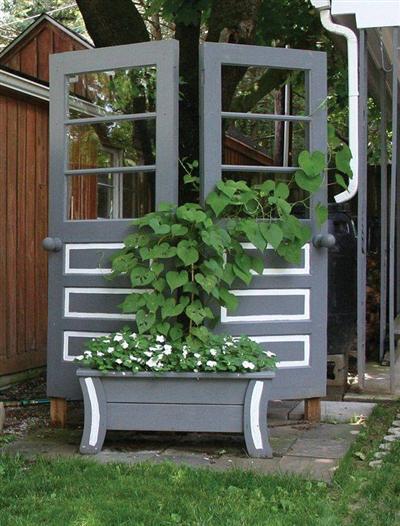 seu portal de artesanato com material reciclado decoracao jardim