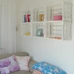 nichos quarto menina caixotes brancos de feira