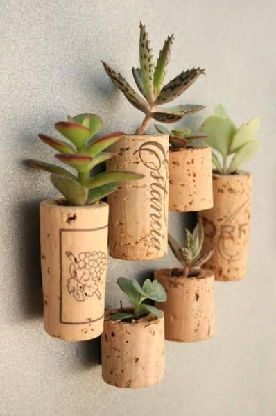 Wine Cork Succulent Planters