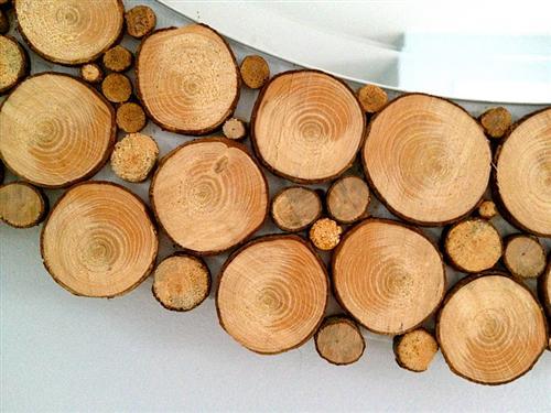 Reciclagem no meio ambiente o seu portal de artesanato com material reciclado moldura de - Holzscheiben deko wand ...