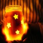 Como dar efeito luminoso em potes de vidro