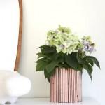 Decoração para vaso de plantas com jornal velho