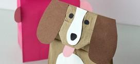 Como fazer sacolas de cachorro e porquinho