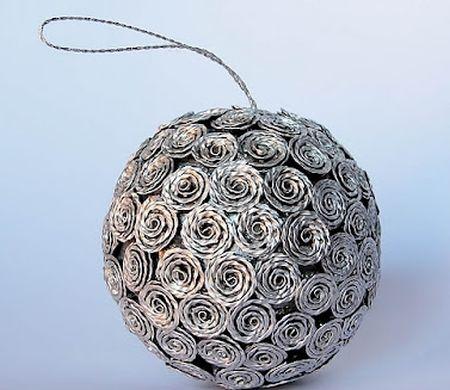 Reciclagem no meio ambiente o seu portal de artesanato for Bolas de navidad recicladas