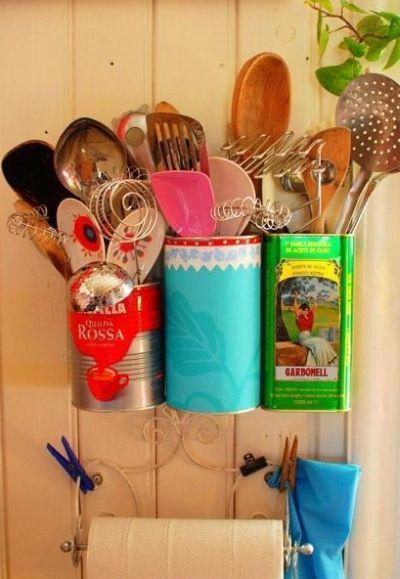 9 ideias de artesanato com material reaproveitado para cozinha for Decoracion del hogar pinterest
