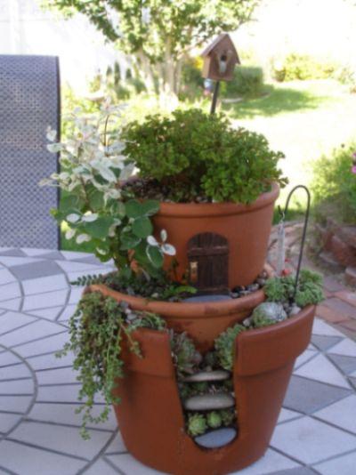 mini jardim reciclado: com material reciclado Como Fazer um Jardim de Fadas Passo a Passo