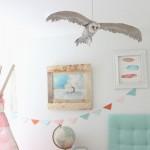 Coruja feita de papel é um objeto de decoração diferente, mas bem interessante (Foto: welivedhappilyeverafter.com)