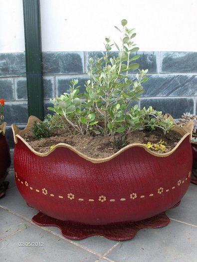 Artesanato Com Pneus Velhos Passo A Passo ~ Reciclagem no Meio Ambiente u2013 O seu portal de artesanato com material reciclado Como Fazer Vaso