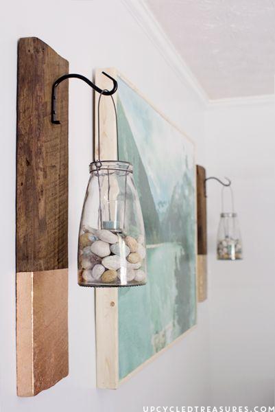 Decoração de parede com reciclagem é barata, mas linda (Foto: upcycledtreasures.com)