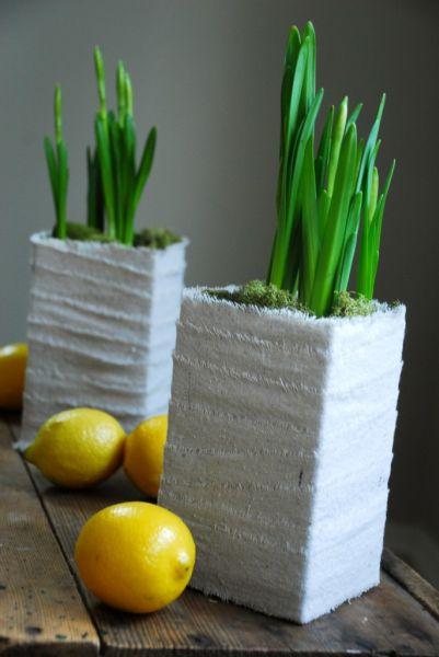Cachepô de caixa de leite é barato, mas lindo (Foto: cfabbridesigns.com)