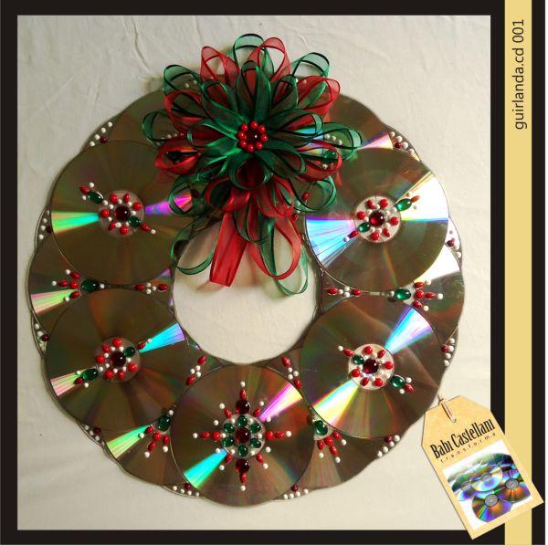 Decoração Com Cd ~ Ideias para Decoraç u00e3o de Natal com Reciclagem de CD Cascavilha Quem procura, acha