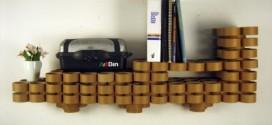 A decoração com tubos de papelão reciclado é sustentável e linda (Foto: coroflot.com)