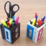 Porta-Lápis Reciclado de Fita K7 Passo a Passo