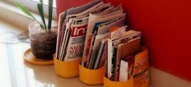 Ideia de Revisteiro Feito de Reciclagem