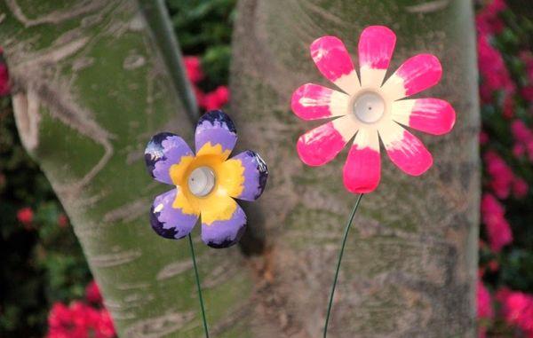 Flores de Garrafa de Plástico