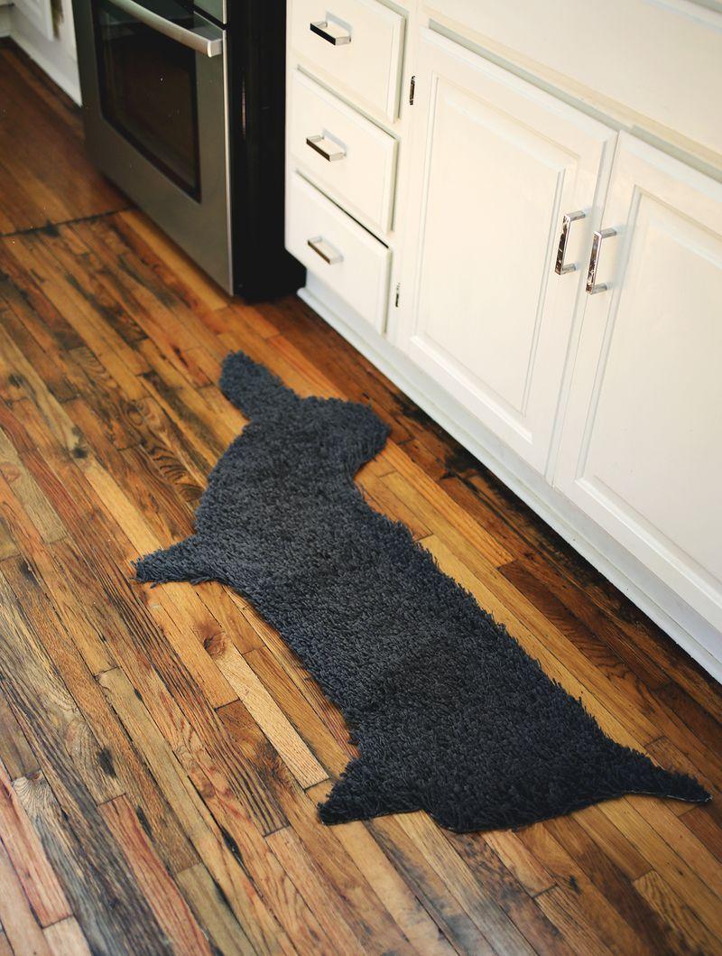 Reciclagem simples de tapete velho é também muito criativa (Foto: abeautifulmess.com)