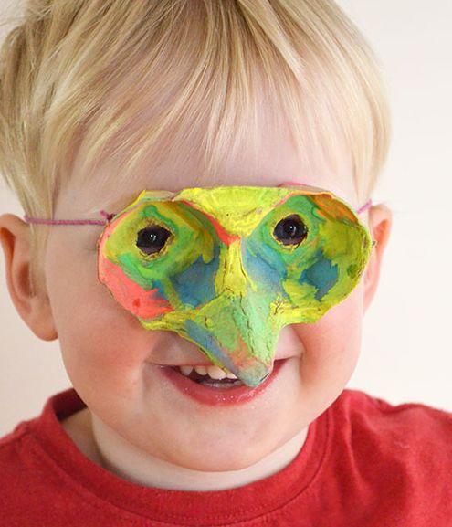 Máscara com Caixa de Ovo Passo a Passo