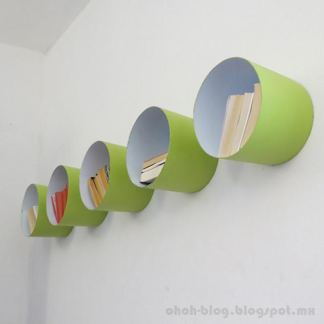 Nichos Feitos com baldes reciclados