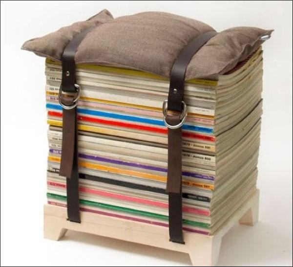 reciclagem com revistas