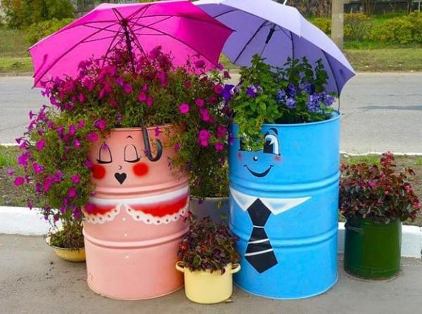 Reciclagem no Meio Ambiente u2013 O seu portal de artesanato com material reciclado Decoraç u00e3o de  -> Decoração De Jardim Com Material Reciclavel