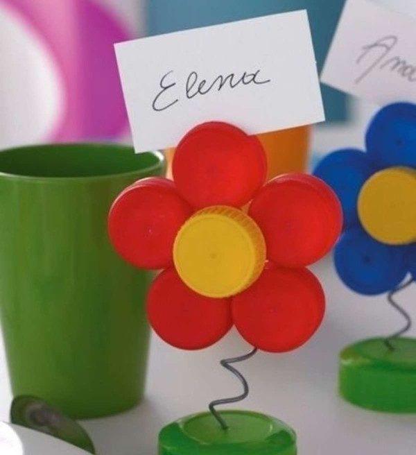 flor com tampa de pet