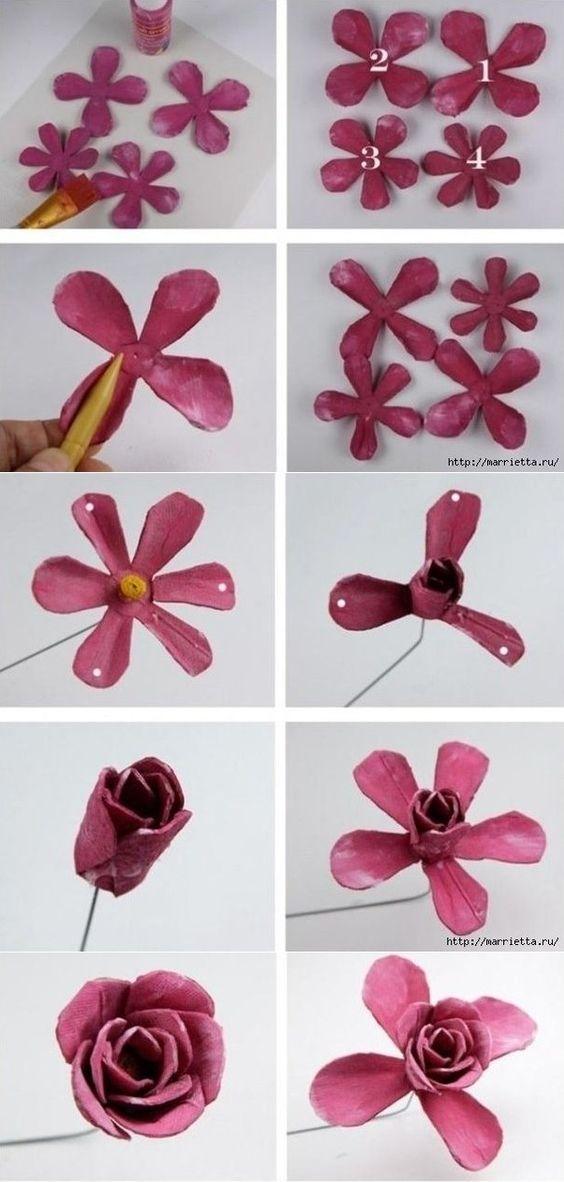flor feito de pet