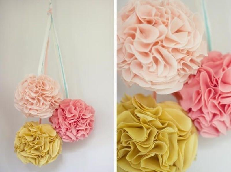 decoração flores recicladas