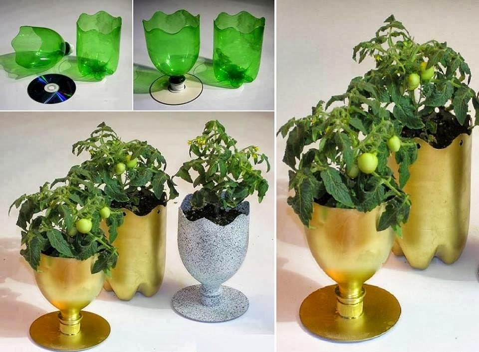 como fazer reciclagem de garrafa pet para plantar ideias