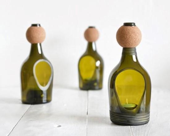 artesanatos com garrafas de vidro reaproveitadas