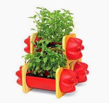 ideias para reciclar garrafas pet com plantas