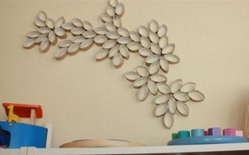 decoração com reciclagem para parede