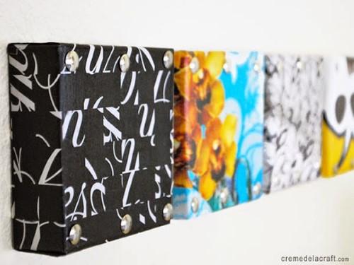ideias para decorar parede com reciclagem
