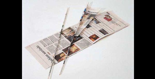 canudo de jornal