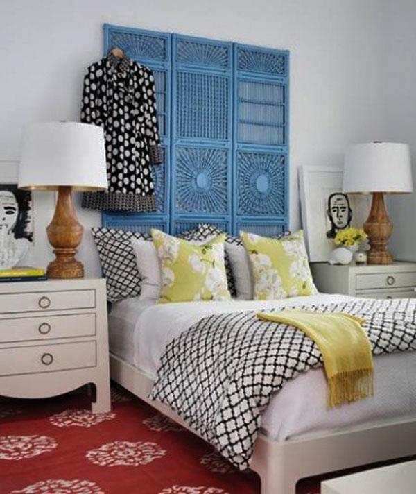 cabeceira de cama de tela
