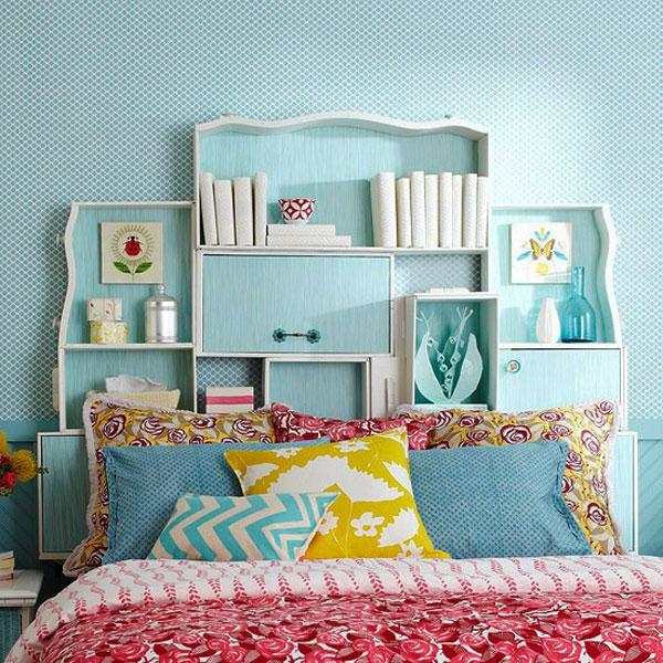 cabeceira de cama com divisórias