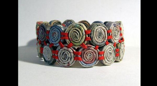bracelete de jornal