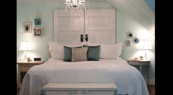 cabeceira de cama de portas